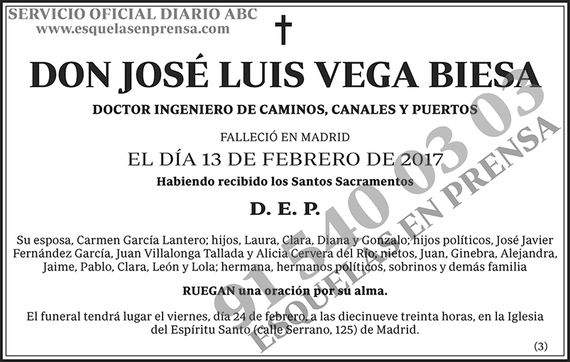 José Luis Vega Biesa